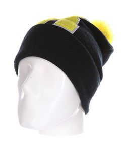 Truespin | Шапка Abc Pompom Beanie Black/Yellow R