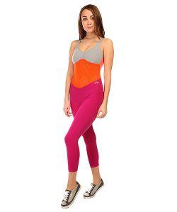 CajuBrasil | Комбинезон Для Фитнеса Женский New Zealand Overall Pink/Orange/Grey