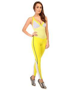 CajuBrasil | Комбинезон Для Фитнеса Женский New Zealand Overall Yellow/White