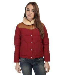 Penfield | Пуховик Женский Rockwool Leather Yoke Down Jacket Red