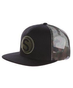 Ssur | Бейсболка С Сеткой Chennille Camo Trucker Black/Red