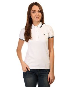 Fred Perry | Поло Женское Twin Tipped Shirt White