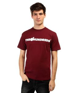 The Hundreds | Футболка Forever Bar T-Shirt Burgundy