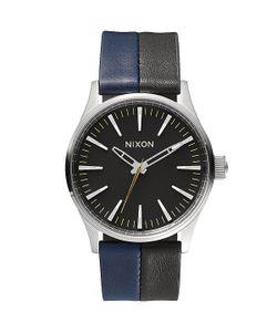 Nixon | Часы Sentry 38 Leather Black/Navy/Black
