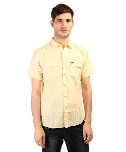Brixton   Рубашка Wayne S/S Woven Yellow