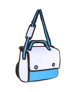 Look | Сумка Через Плечо 2d Simple White/Blue/Black