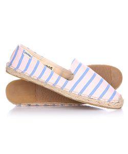 Soludos | Эспадрильи Женские Slipper Classic Stripe Blush Blue Lagoon