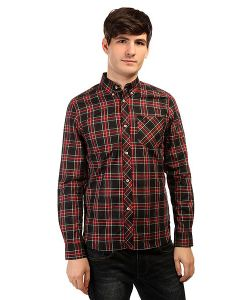 Fred Perry | Рубашка В Клетку Tartan Shirt Red/Green/Black