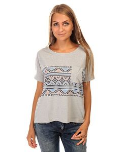 Roxy | Футболка Женская Boxybohoborder J Tees Heritage Heather