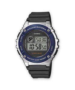 Casio | Электронные Часы Collection W-216h-2a Black/Grey/Blue