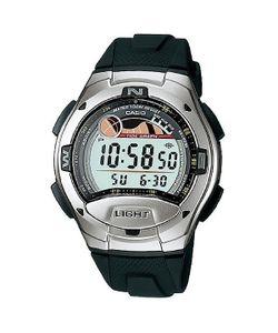 Casio   Электронные Часы Collection W-753-1a Silver/Dark Green