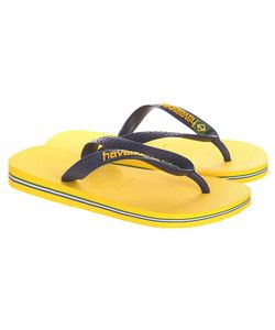 Havaianas | Вьетнамки Brasil Logo Yellow/Blue