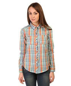 Roxy   Рубашка В Клетку Женская Sneaky Wvtp Point Plaid Combo Mo