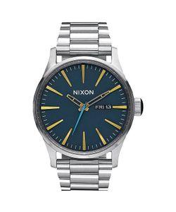 Nixon | Кварцевые Часы Sentry Ss Navy/Brass
