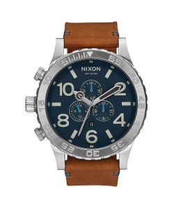 Nixon | Кварцевые Часы 51-30 Chrono Leather Navy/Saddle