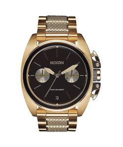 Nixon | Кварцевые Часы Anthem Chrono Gold/Black