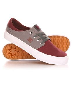 Dcshoes   Кеды Кроссовки Низкие Dc Trase Tx Shoe Oxblood/Lt Grey