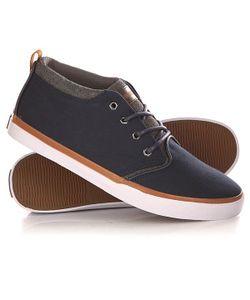 Quiksilver | Кеды Кроссовки Высокие Griffin Canvas Shoe Blue/White/Brown