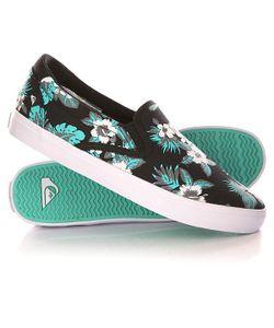 Quiksilver | Слипоны Shorebreak Slip Shoe Black/White/Green
