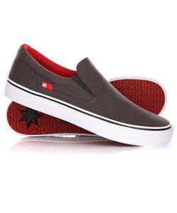 Dcshoes | Слипоны Dc Trase Slip-On Tx Grey/Black/Red
