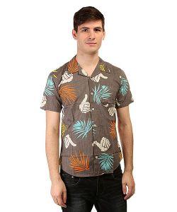 Bro Style | Рубашка Tropic Print Shirt Charcoal