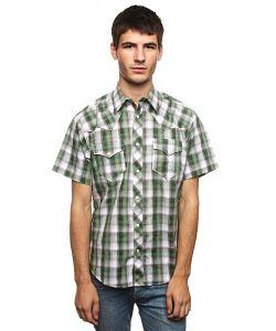 Fallen | Рубашка В Клетку Santa Fe Snap Up Green