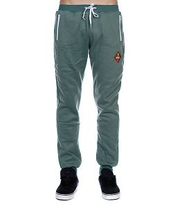 Pyromaniac | Штаны Fitted Sweat Pants Light Green/Melange