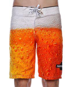 Independent | Пляжные Мужские Шорты Bottoms Up Beer Print