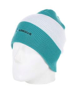 Armour | Шапка Носок Stripe Beanie Green/White