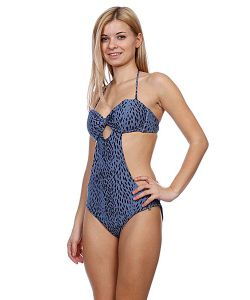 Stussy | Купальник Женский Prom Cut Out One Piece Blue