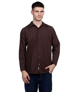Independent | Рубашка No Bs Button Up Chocolate Brown