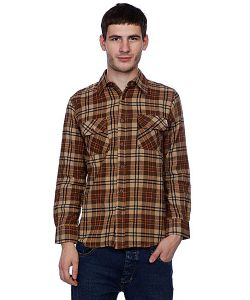 Independent | Рубашка В Клетку Control Button Up Brown/Orange
