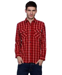 Independent | Рубашка В Клетку Control Button Up Red/Navy/White