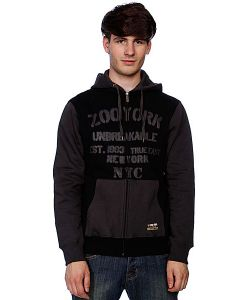 Zoo York | Толстовка Gym Class Stencil Washed Black