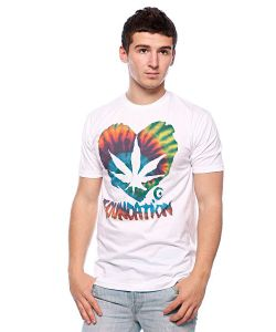 Foundation | Футболка F-Ink Heart Tye Dye White