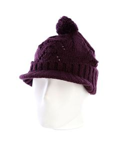 Zoo York | Шапка С Помпоном Женская Lace Knit Cable Hat Potent Purple