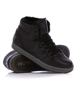Globe | Зимние Кеды Destroyer Mid Fur Black/Vintage Black
