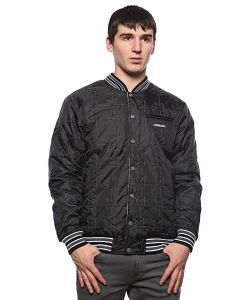 Dekline   Куртка Бомбер Team Jacket Black/White