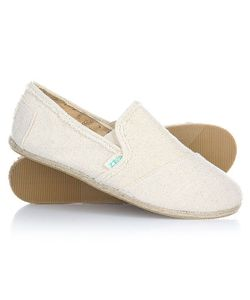 Paez | Эспадрильи Женские Original Raw Slip-On Hard Linen-0031