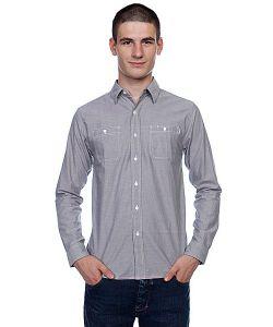 Huf | Рубашка Chambray Work Shirt Grey