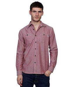 Huf | Рубашка Vintage Chambray Work Shirt Brick
