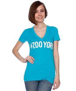 Zoo York | Футболка Женская Logo Block Tee Bluebird