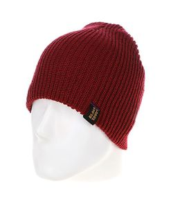 Black Label | Шапка Flame Knit Beanie Burgundy