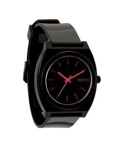 Nixon | Часы The Time Teller P Black/Bright Pink