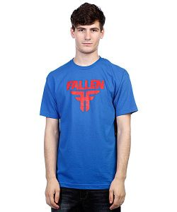 Fallen | Футболка Insignia Logo Royal Blue/Blood Red