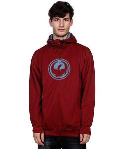 Dragon | Толстовка Утепленная Icon Hydro Zip Hood F12 Maroon