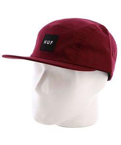 Huf | Бейсболка Пятипанелька Core Box Logo Volley Maroon