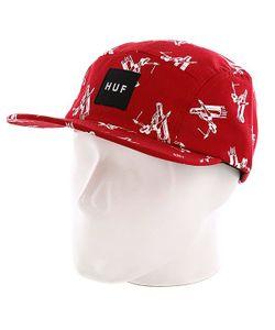 Huf | Бейсболка Пятипанелька Joyride Volley Red