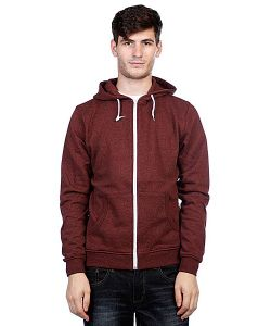 Urban Classics | Толстовка Melange Zip Hoody Black-Red