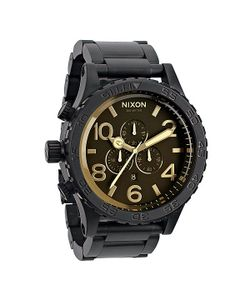 Nixon | Часы 51-30 Chrono Matte Black/Orange Tint